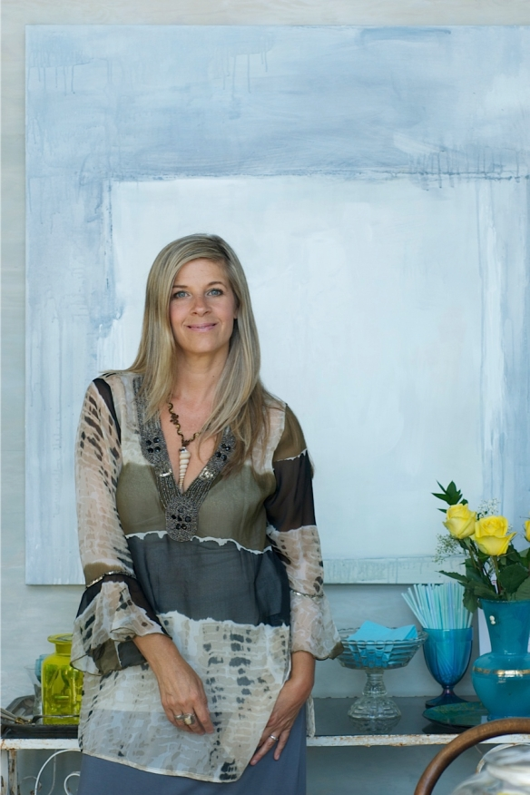 Heather Ross with painting