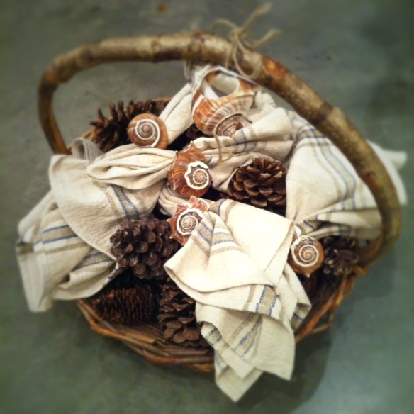 natural eclectic basket