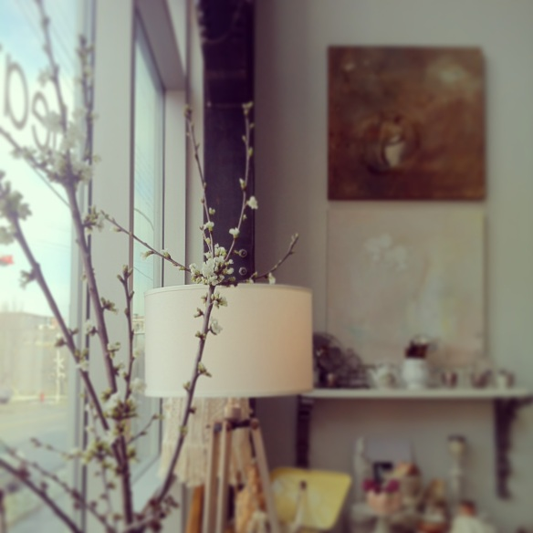 Boutique with blossoms Heather Ross